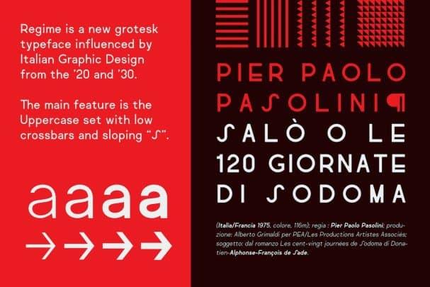 Download Regime Grotesk font (typeface)