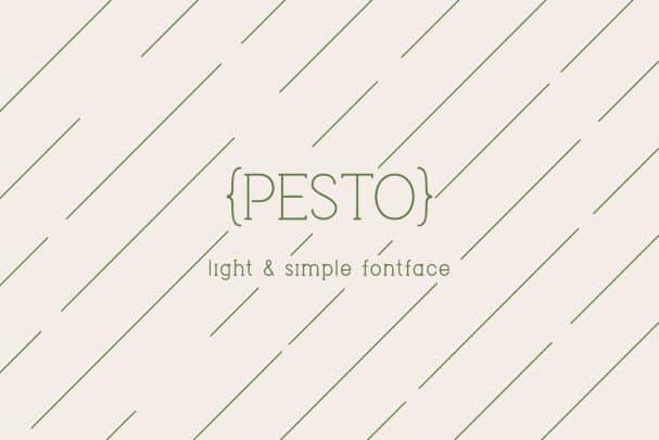 Download Pesto font (typeface)