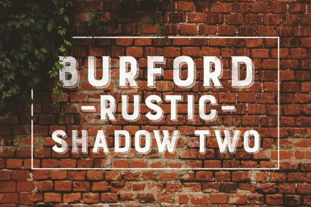 Download Burford Rustic Shadow Two A font (typeface)