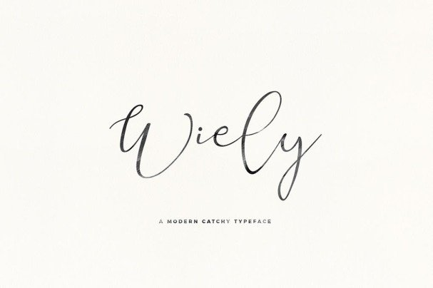 Download Its Miss Wiely font (typeface)
