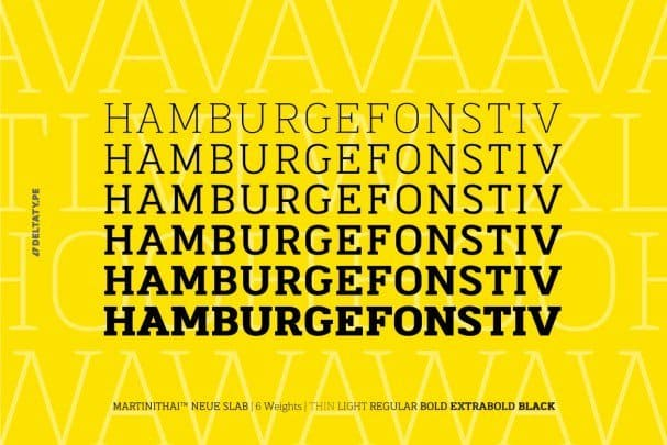 Download MartiniThai Neue Slab font (typeface)