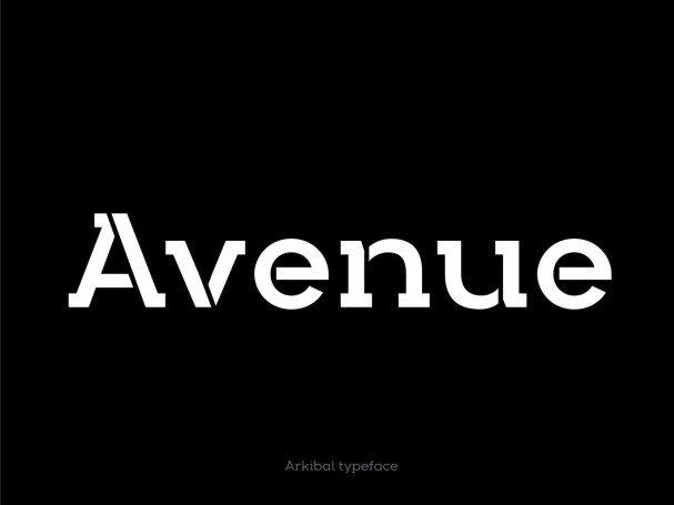 Arkibal Stencil Serif font free download Ⓐ AllBestFonts com