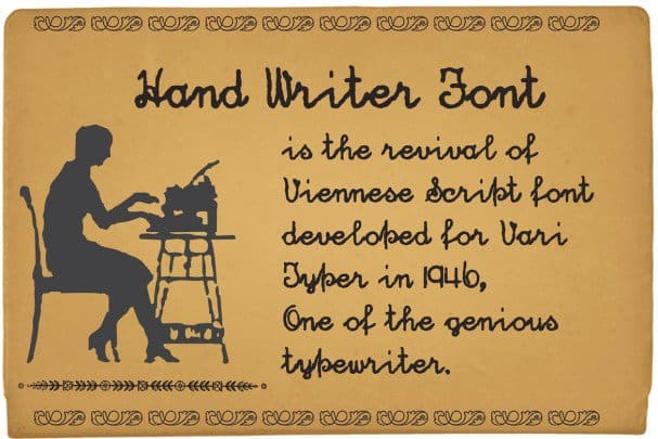 Download Hand Writer font (typeface)