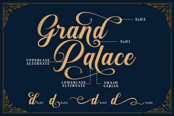Download Sunshine Script & Ornaments font (typeface)