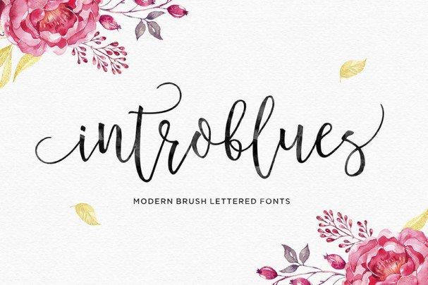 Download Introblues Script font (typeface)