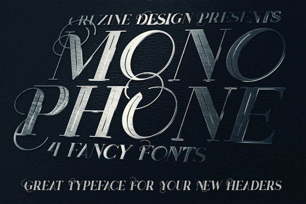 Download Monophone - Fancy Font font (typeface)