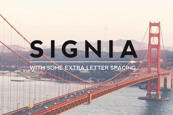 Download SIGNIA Pro Modern Typeface + Web font (typeface)