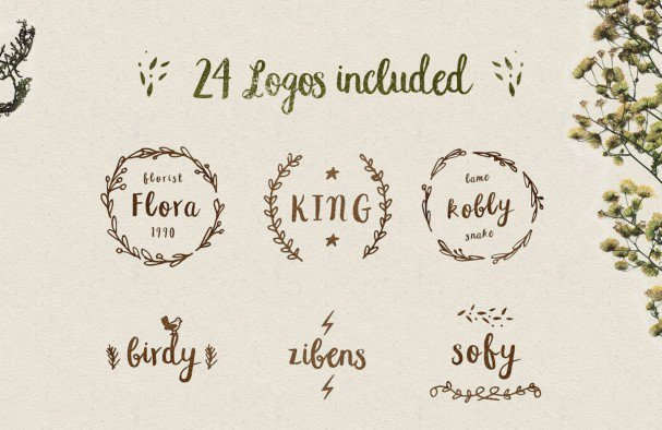 Download Peomy Extended & Illustrations & Logos font (typeface)