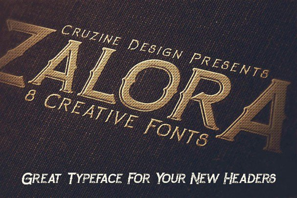 Download Zalora Typeface font (typeface)