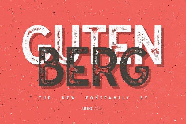 Download Gutenberg - Family font (typeface)