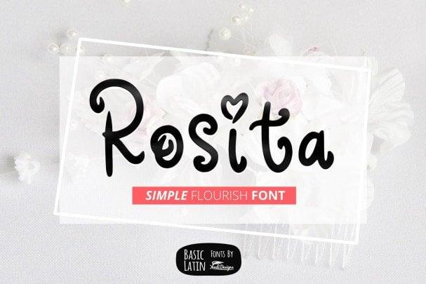 Download Rosita Font font (typeface)