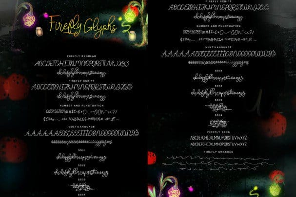 Download Firefly - Handletter Family font (typeface)