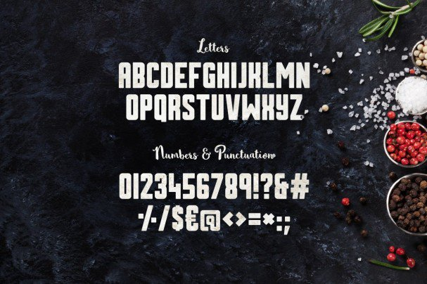 Download Sumac Typeface font (typeface)
