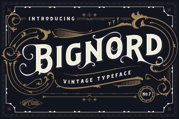 Download Bignord font (typeface)