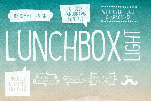 Download Lunchbox Light font (typeface)