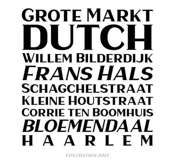 Download Haarlem Serif font (typeface)