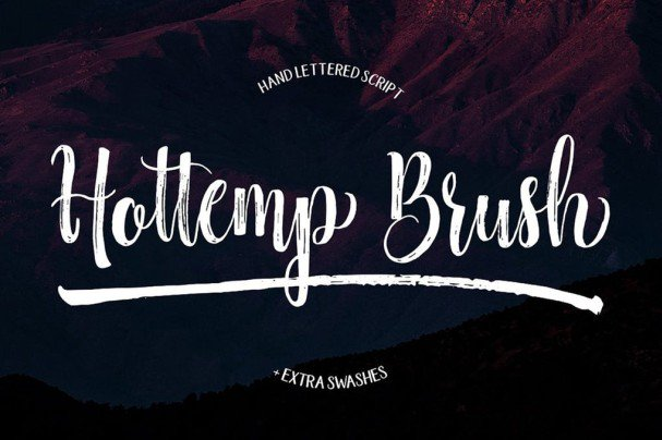 Download Hottemp Brush font (typeface)