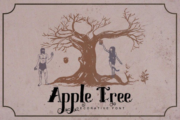 Download Apple Tree - Decorative Font font (typeface)