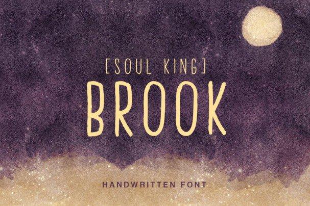 Download Brook Handwritten font (typeface)