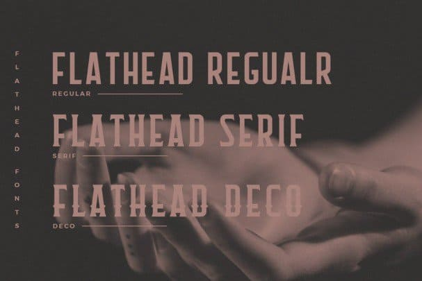 Download Flathead Round Typeface font (typeface)