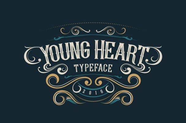 Download Young Heart Typeface font (typeface)