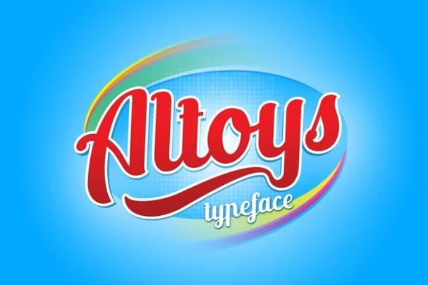 Download Altoys typeface font (typeface)