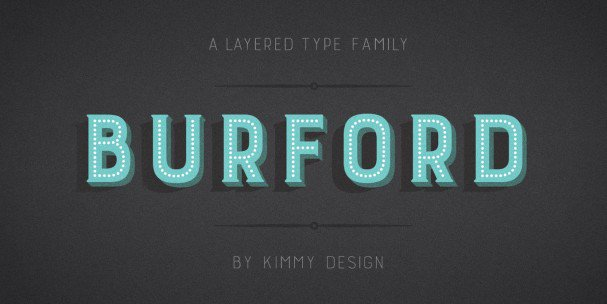 Download Burford Extrude B font (typeface)