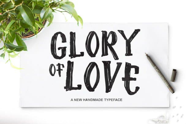 Download Glory Of Love font (typeface)
