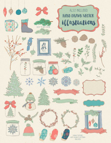 Download Winter Tales Font Trio + extras font (typeface)