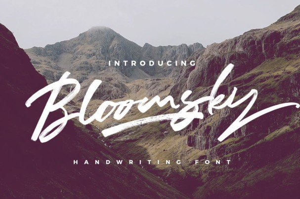 Download Bloomsky font (typeface)