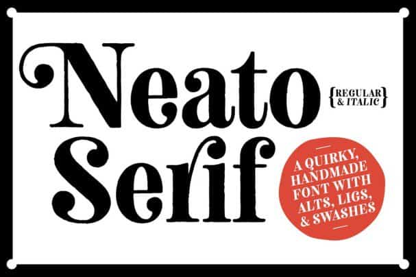 Download Neato Serif Font Family font (typeface)