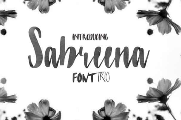 Download Sabreena Font 3 in 1 font (typeface)