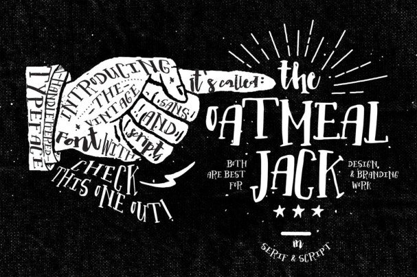 Download Oatmeal Jack font (typeface)
