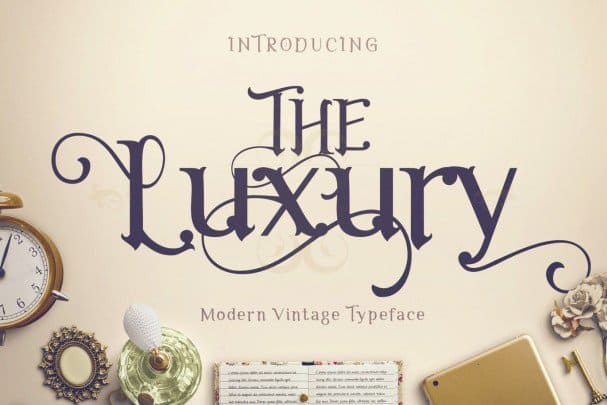 Download The Luxury font (typeface)