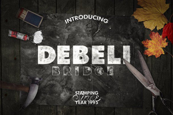 Download Debeli Typeface font (typeface)