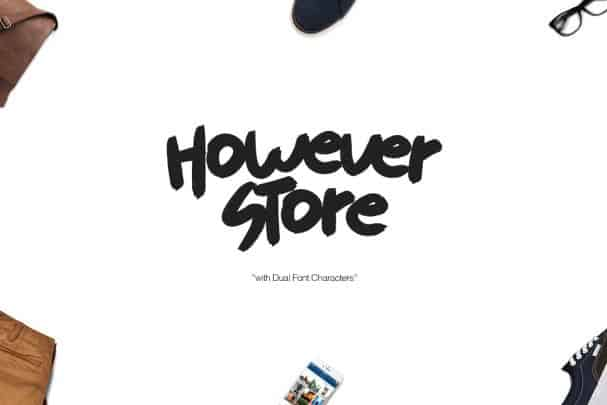 Download However Store font (typeface)