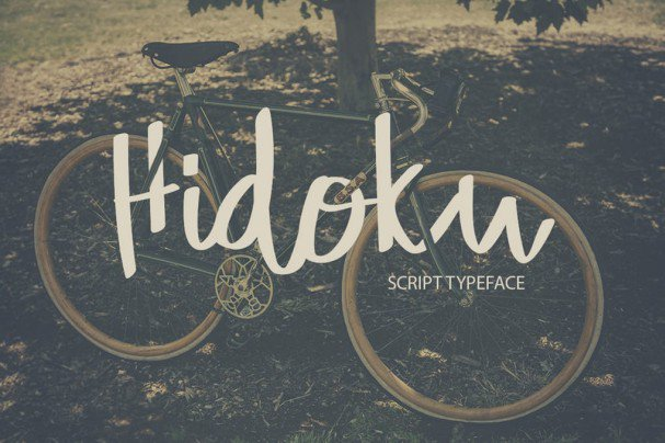 Download Hidoku Script Typeface font (typeface)
