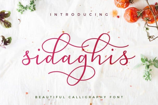 Download Sidaghis font (typeface)