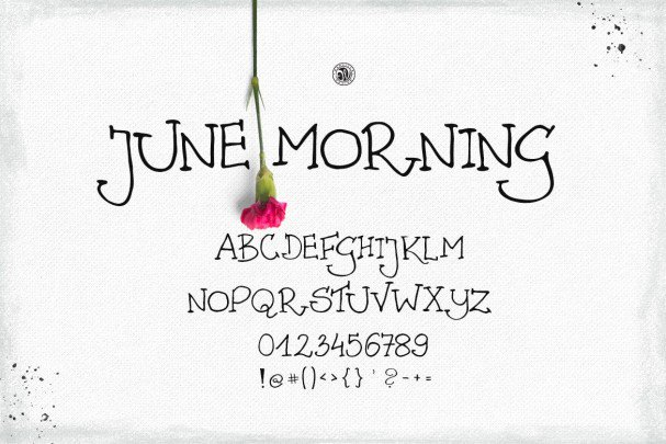 Download June Morning font (typeface)