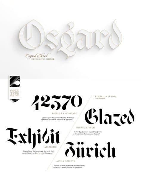 Download Osgard Pro font (typeface)