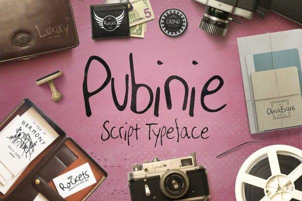 Download Pubinie Script Typeface font (typeface)