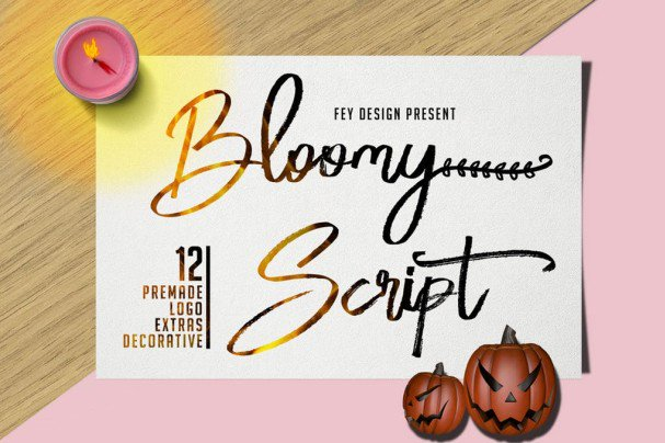 Download Bloomy Script - Handwritting font (typeface)
