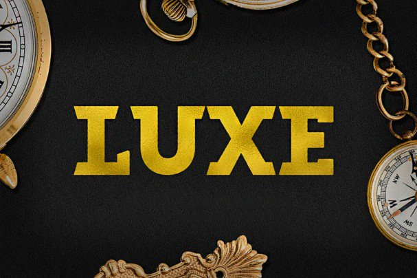 Download Luxe font (typeface)