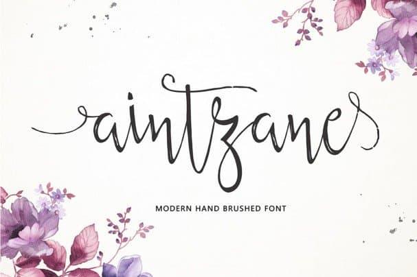Download Aintzane Script font (typeface)