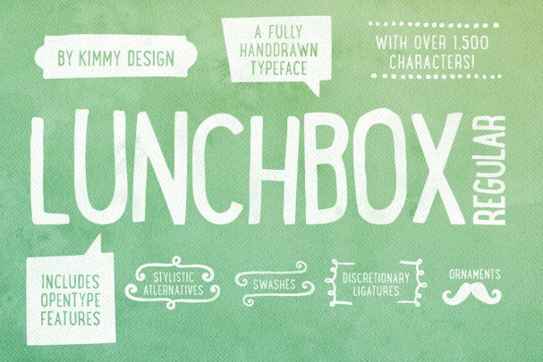 Download Lunchbox Regular font (typeface)