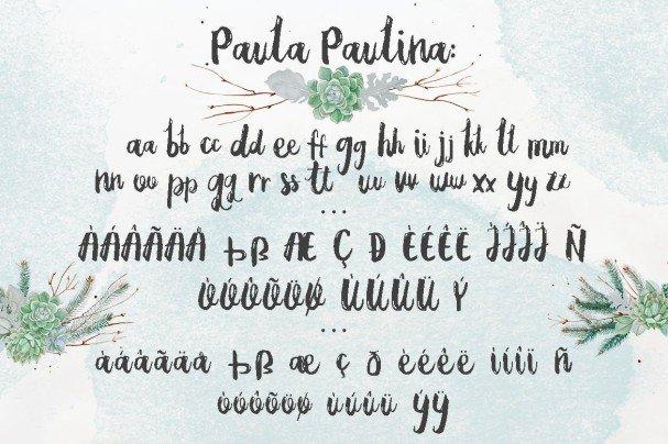 Download Paula Paulina font (typeface)