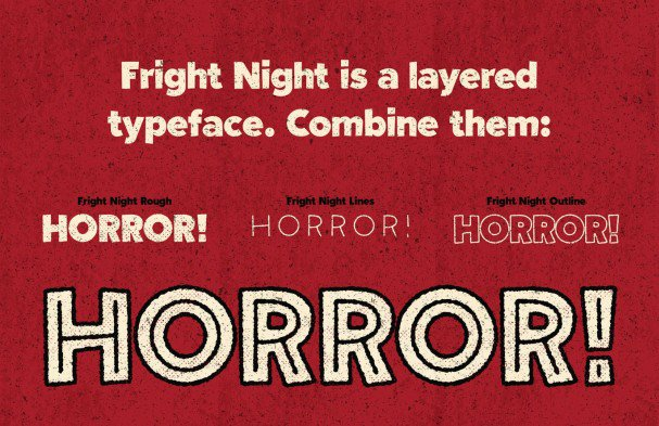 Download Fright Night - Vintage horror! font (typeface)