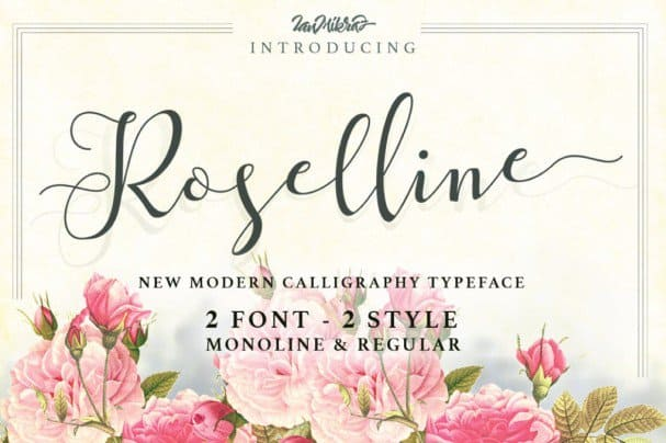 Download Roselline Typeface font (typeface)