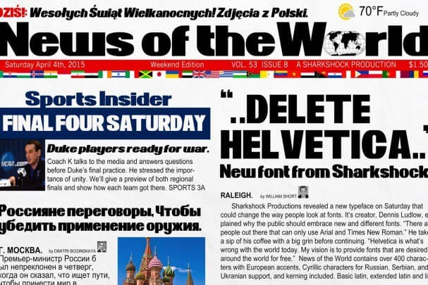 Download News of the World font (typeface)