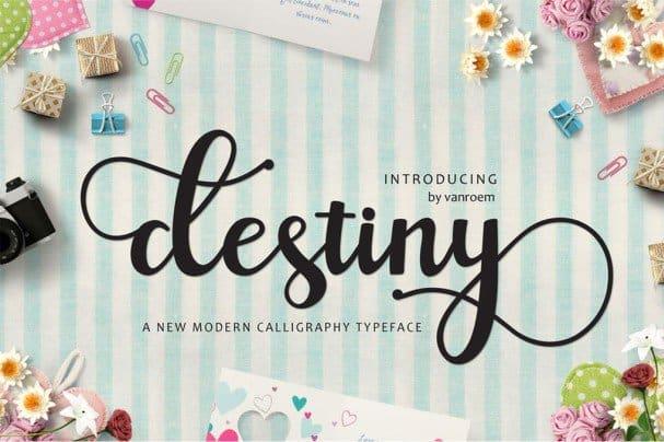 Download Destiny font (typeface)